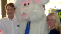 Richard, Easter bunny and Staff